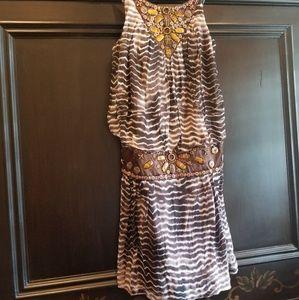 Sue Wong mini dress stone embellished